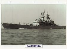 1971 USS CALIFORNIA (CGN-36) Cruiser / Warship Photograph Maxi Card /