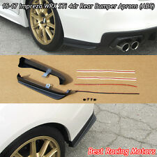 Rear Bumper Aprons (ABS) Fits 15-18 Subaru WRX STi 4dr