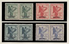 1922  ERITREA ITALIAN COLONY VICTORY ISSUE PAIR MINT NEVER HINGED SCT. 54 -57