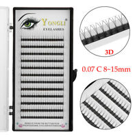 SKONHED Premade 3D Volume Lash Fans 0.07 Thickness C Curl False Eyelashes 8~15mm