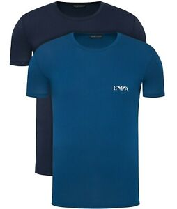EA7 EMPORIO ARMANI 2-PACK T-SHIRTS FOR MENS IN NAVY & BLUE  S-M-L-XL-XXL