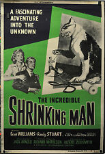 THE INCREDIBLE SHRINKING MAN 1957 ORIGINAL 40X60 MOVIE POSTER GRANT WILLIAMS