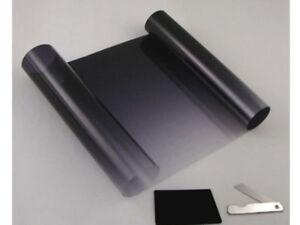 2 x Black Clear Sun Strip Fade Visor Windscreen Tinting Tint Film 150 X 20 cm