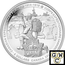 2014 'Canadian Expeditionary Force' Proof $5 Silver Coin .9999 Fine (13942)
