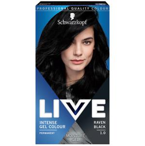 Schwarzkopf Permanent Intense Gel Color Hair LIVE 1.0 Raven Black