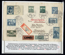 CZECHOSLOVAKIA 1935  AIR MAIL  , MIX FRANKING