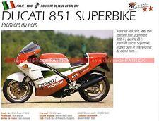 DUCATI 851 Superbike 1988 Fiche Moto 000168