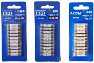 INDOOR  3, 5, 13AMP FUSES BS1362 (PACK OF 10)
