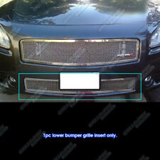 Fits 2009-2014 Nissan Maxima Bumper Stainless Steel Mesh Grille Grill Insert