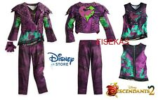 Disney Store Descendants 2 MAL Costume Dress Jacket Glove Kids Girl Size 13 NEW