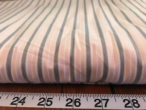 Gray & Pink Stripe Med. Wt Cotton Sewing Fabric Robert Allen   BTY 1551