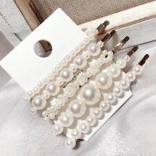 5pcs/set Pearl Hair Clip Barrettes Fashion Women's Handmade Hairpins Accessories