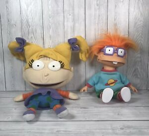Rugrats Chuckie Finster & Angelica Puppet Soft Plush Toy Dolls Nickelodeon 1993