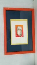 Holli Ker 1970 Ltd Ed Owl Print #125/150 'On His Own' Framed 12x18 Birds