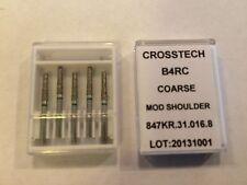 Crosstech High Speed Diamond Dental Bur Modified Shoulder B4RC 847KR-016 5pk