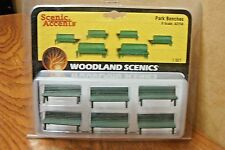 WOODLAND SCENICS PARK BENCHES O SCALE
