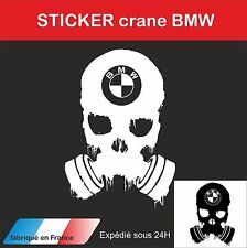 sticker autocollant adhésif automobile skull crane BMW death dead squelette