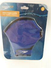 New Speedo Fit Swimming Aqua Fit Training-Exercise Swim Gloves Royal- S/P