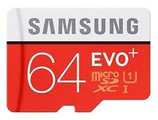 Samsung 64GB Micro SD SDXC MicroSD EVO+ 80MB/s CLASS 10 Memory Card - 64 GB