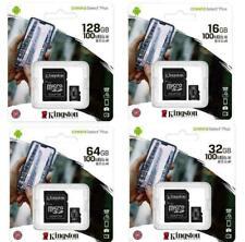 KINGSTON 16GB 32GB 64GB 128GB Tarjeta Micro SD Select Plus de lona Adaptador Clase 10