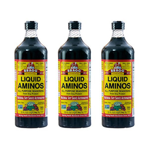 Bragg Liquid Aminos, Natural Soy Sauce Alternative, 32-Ounce Bottle , Pack of 3