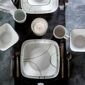 Corelle Simple Lines 16-piece Dinnerware Set, Service for 4