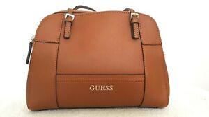 GUESS Designer Ladies Brown Large Faux Leather Shoulder Bag EUC