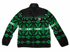 Polo Ralph Lauren Green Black Downhill Ski Racing Fleece Jacket Coat Medium