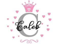 Personalised Any Name Princess Wall Decal 3D Art Stickers Vinyl Room Bedroom 3