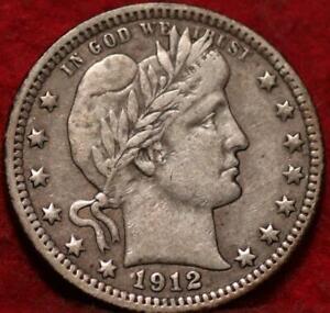 1912 Philadelphia Mint Silver Barber Quarter