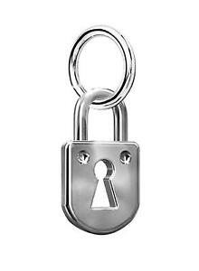 Padlock Pendant Charm For Charms Bracelet Or Necklace A27P Sterling Silver 925