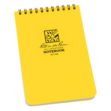 """RITE IN THE RAIN YELLOW 4"""" X 6"""" ALL WEATHER WATERPROOF NOTEPAD FIELD NOTES N146"""