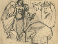 Anne Roger - Mid 20th Century Charcoal Drawing, Religious Scene