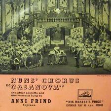 "Anni Frind(7"" Vinyl P/S)Nuns' Chorus 'Casanova'-HMV-7EG 8276-UK-VG/VG"