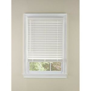 LEVOLOR 2-in White Faux Wood Blinds 23-in (Act 22.5-in x 72-in HOTT DEALS 182855