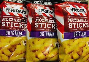 3 Bags TGI Fridays Baked Mozzarella Sticks  *~*+ FAST FREE SHIPPING ! +*~*