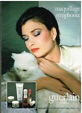 Publicité Advertising 1980 Cosmetique maquillage Guerlain