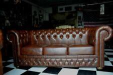 Chesterfield 3 Sitz Leder Sofa