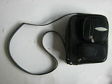 Handmade genuine black stingray skin leather handbag shoulder bag purse. MP700
