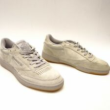 New Reebok Mens Classic C 85 TG Low Top Steel Gray Suede Sneakers Shoes  Size 8 df7a9d6ec