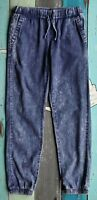 Vanilla Star distressed denim look drawstring pants girls' size M 7/8