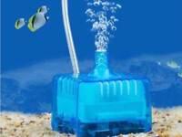 Filtro biologico acuario mini de aire con material filtrante ALEVINES GAMBAS