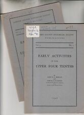 2 1948 BOOKLETS - EARLY ACTIVITIES IN THE UPPER FOUR TENTHS - CAMDEN COUNTY NJ