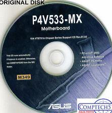 ASUS GENUINE VINTAGE ORIGINAL DISK FOR P4V533-MX Motherboard Drivers Disk M349