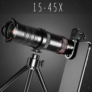 15-45X Cell Phone Smartphone Telephoto  Monocular Telescope for Hunting