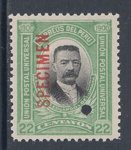 Peru Sc 160 MOG 1938 22c President Eduardo de Romaña, Waterlow Specimen
