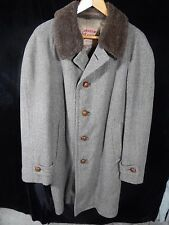 "Vintage(?) Men's Loden Frey Button Down Heavy Long Coat; 38""; Germany"