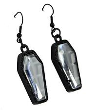 Black Coffin Earrings Catacomb Cemetery Jewelry Punk Horror Goth Psychobilly Emo