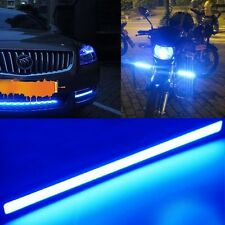 2x Ultra bright COB Blue LED Lights 12V For DRL Fog Driving Lamp Waterproof 14cm