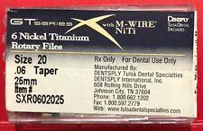 New Listingdentsply Gtx Series Nickel Titanium Rotary Files Size 20 006 25mm